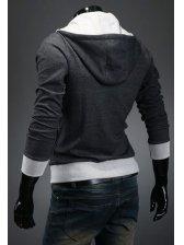 Korean Stylish Inclined Zipper Long Sleeve Hoodies