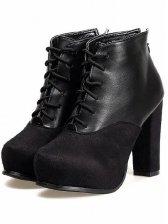 Korean Style Straps Chunky Heel Short Boots