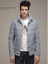 Vogued Men Square Collar Single-breasted Short Coat