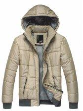 Classics Men Fashion Zip up Hooded Puffer Coat