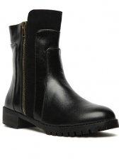 Punk Stylish Women Rivet Square Toe Short Boots