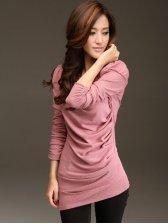 Korea New Fashion Puff Long Sleeve T-shirt