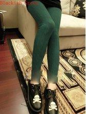 Retro Fashion Women Hemp Flower Slim Leggings