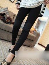 Korean Fashion Patch Design Slim Stretchable Legging