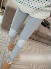 Winter Fashion Patch Design Slim Stretchable Legging