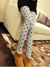 European Style Star Print Stretchy Slim Fit Leggings