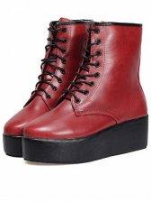 Hot Sale Straps Round Toe Platform Short Boots