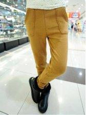 Vogued Women Side Pockets Stretchy Warm Leggings