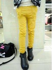 Brand New Solid Color Side Pockets Warm Leggings