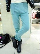 Vogued Women Side Pockets Fleece Thick Slim Leggings