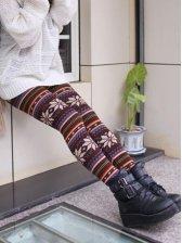 New Trendy Women Snowflake Pattern Warm Leggings