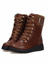 New Trendy Women Side Buckle Martin Boots