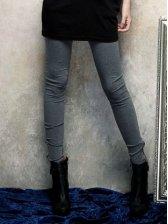 Hot Sale Zipper Design Pure Color Slim Stretchable Legging