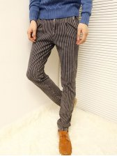 Modern New Stripe Thickening Stretchy Pants