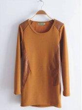 Vogued Women Fleece Thick Hip-length T-shirt