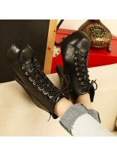 Korean Fashion Side Zipper High Heel Short Boots