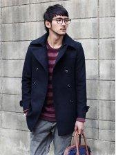 Winter Men Double-breasted Warm Woolen Long Coat