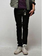 Winter Fashion Men Slim Black Long Pants