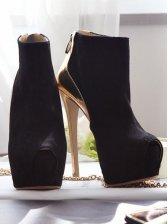 Noble Lady Peep Toe Back Zipper Stiletto Short Boots