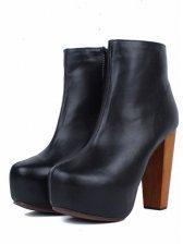 Modern Women Round Toe High Heel Short Boots