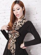 New Fashion Leopard Printing Casual Chiffon Scarf