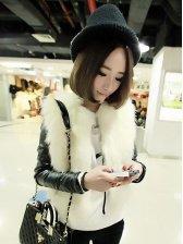 Lady Luxury Front Open Faux Fur Warm Short Coat