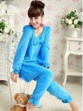 Cute Bowknot Dress&Long Pants Pajamas Sets