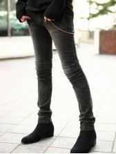 Cool Fashion Simple Thickening Slim Denim Pencil Pants