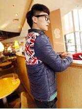 Brand New Men England-flag Blue Short Coat