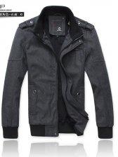 Winter Warm Zipper Epaulet Pockets Turn Collar Coat