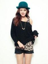 Sweetie Fashion Loose Blouse&Tank Dress Two-piece Set