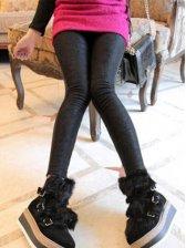 Modern Fashion Lace Flower Pattern Leggings In Black