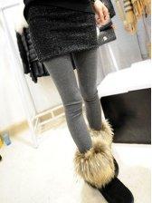 Popular Lady Sequin Woolen Skinny Skirt Pants Leggings