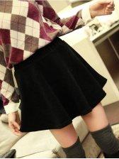 Korean Fashion Pure Color Slim Mini Skirt