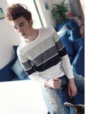 Stylish Men Striped Long Sleeve T-shirt