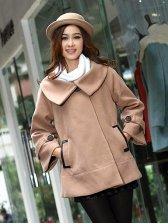 Winter Style Cloak Design Turn Collar Short Coat