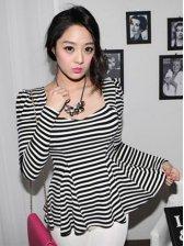 Korean Style Women Striped Long Sleeve T-shirt