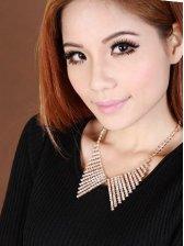 Chic Fashion Women Rhinestone-studded Sweater Necklace