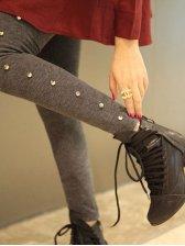 New Winter Rivets Decoration Pants Leggings