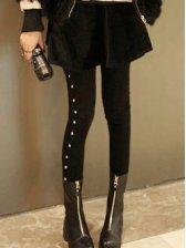 Brand New Rivets Decoration Black Pants Leggings