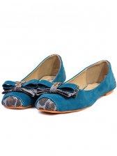Modern Woman Bowknot Square Toe Flat Shoes