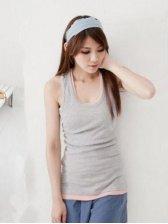 Brand New Korean Summer Round Neck Gray Camisole