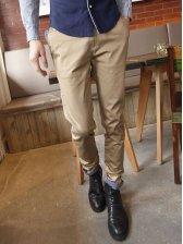 Stylish New Dotted Cuff Cotton Slim Long Pants