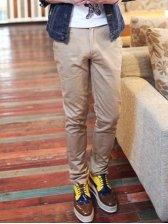 Simple Men Fashion Solid Color Casual Long Pants