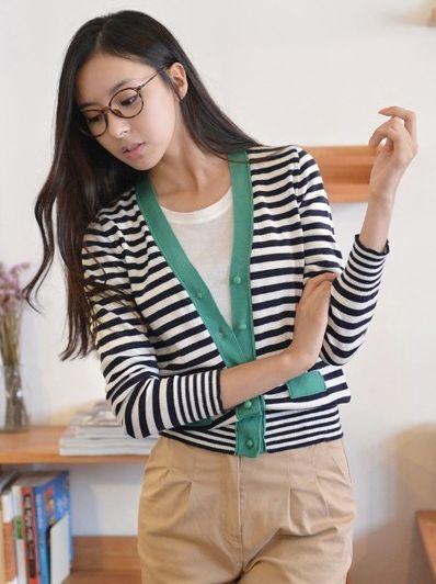 2013 New Spring Striped Single-breasted Slim Short Zebra Coat