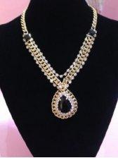 Retro Fashion Woman Rhinestone Decoration Necklace