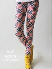 Modern Fashion Woman Stars And Stripes Print Leggings