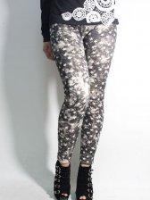 Spring Fashion Star Pattern Black Leggings
