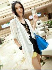 Korean Style Asymmetrical Pure Color Long Sleeve Coat