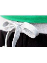 Modern Spring American Printing Drawstring Black Cotton Pants